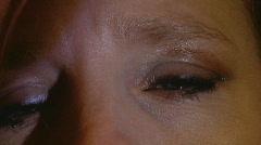 Sad teary eyes 02 Stock Footage