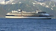 Stock Video Footage of Cruise ship fish boats Seward Alaska P HD 1631