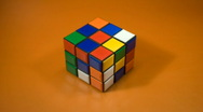 Stock Video Footage of Rubiks Cube NTSC
