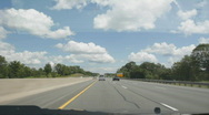 Stock Video Footage of Summer highway driving.