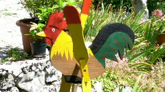 Wooden Rooster Stock Footage