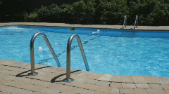 Swimming pool. - stock footage