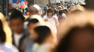 Diverse City Crowd 04 Stock Footage