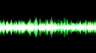 Stock Video Footage of green ray light background,voice noise rhythm.Frequency,acoustic,vibration,sound