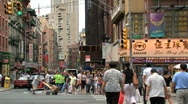 Stock Video Footage of Chinatown New York City