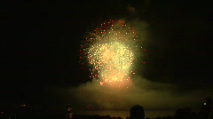 Blooms Of Yellow And Red Fireworks Stock Footage