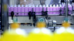 Automated Production Line - Liquid Detergent - stock footage