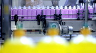 Automated Production Line - Liquid Detergent Stock Footage