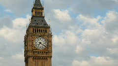 Big Ben against the sky. London, England. Stock Footage