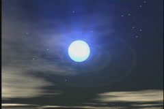 2604 Evening clear moon Stock Footage