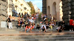 Street dancers Stock Footage