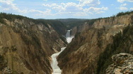 Stock Video Footage of Lower Yellowstone Falls, Yellowstone National Park, Wyoming