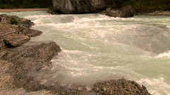 Athabasca River, Jasper National Park, Alberta, Canada Stock Footage