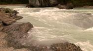 Athabasca River, Jasper National Park, Alberta, Canada Stock Footage