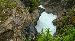 Athabasca Falls, Jasper National Park, Alberta, Canada - stock footage