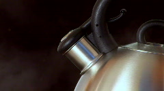 Steaming kettle - stock footage