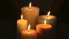 Lighted candles - stock footage