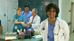 Medical personnel portrait - stock footage