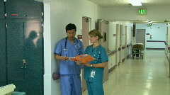 Medical personnel in hospital Stock Footage