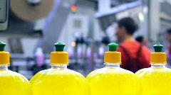 Modern Factory - Liquid Detergent Stock Footage