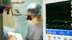 Monitoring in operation room - stock footage