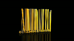Falling bar code - stock footage