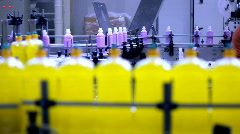 Dishwashing Detergent Production Line Stock Footage