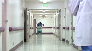 Medical personnel and patient Stock Footage