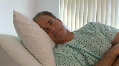 Patient in hospital room - stock footage