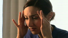 Close up portrait of upset woman Stock Footage