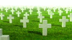 Graveyard flight through, LOOP Stock Footage