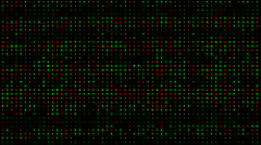 Red and green electronic light array background.Scanning,detection,radar,vision, Stock Footage
