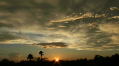 Time Lapse Cloud Mass Sunset Stock Footage