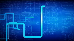 LINES AND CIRCUIT Stock Footage