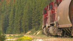 Railroad, train up heavy grade, sharp angle Stock Footage