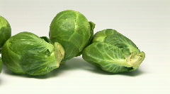 Brussel sprouts Stock Footage