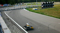 Carting race different view - edit cut Stock Footage