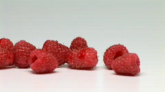 Raspberries - stock footage