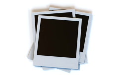Empty Polaroid Picture Stack - stock footage