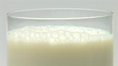 Glass of milk Stock Footage