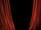 Stock Video Footage of Red/blue Curtains Opening On Stage. Includes Alpha.