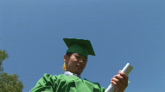 Young excited Asian man after graduation - stock footage