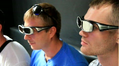 Boys with 3D glasses Stock Footage