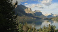 Stock Video Footage of Glacier NP Wild Goose Island pan P HD 7763
