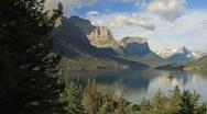 Glacier NP Wild Goose Island pan P HD 7763 Stock Footage