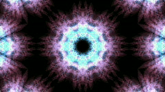 Color rotation snowflake pattern,kaleidoscope.lotus,Buddhism Mandala flower,kale Stock Footage