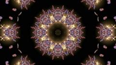 Gold butterfly circle pattern and stars.lotus fancy pattern,Buddhism Mandala flo Stock Footage