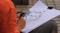 Portrait-painter Stock Footage