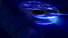 Film Reel - Dark Blue - stock footage