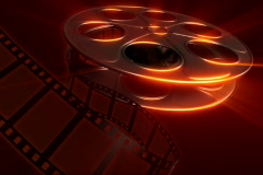 Film Reel - Dark Red Stock Footage
